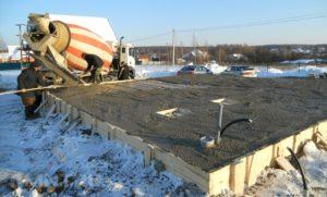 Способы избежать замерзания бетона